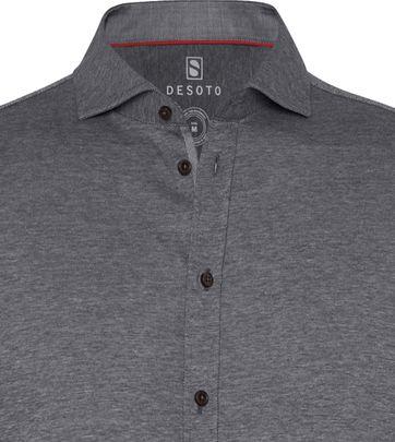 Desoto Overhemd Strijkvrij Donkergrijs 711