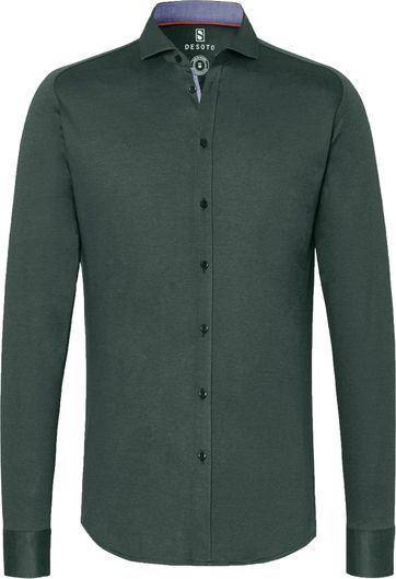 Desoto Overhemd Strijkvrij Donkergroen 602