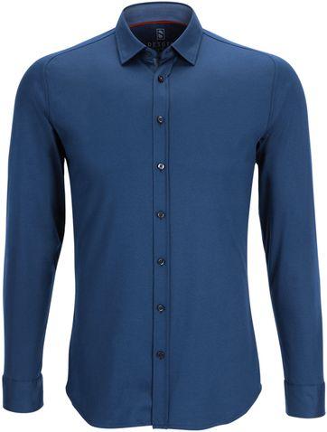 Desoto Overhemd Strijkvrij Indigoblauw