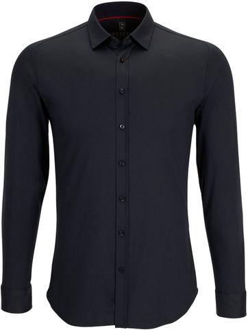 Desoto Overhemd Strijkvrij Modern Zwart