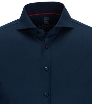 Desoto Overhemd Strijkvrij Navy 057