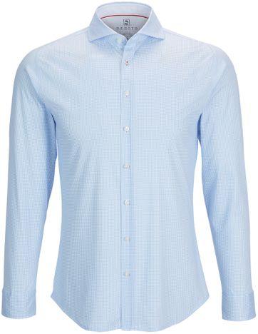 Desoto Overhemd Strijkvrij PDP Blauw
