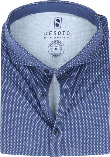 Desoto Overhemd Strijkvrij Stippen 523