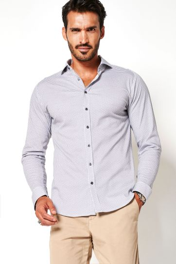 Desoto Overhemd Strijkvrij Stippen 804