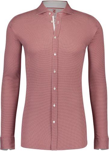 Desoto Overhemd Strijkvrij Stippen Rood