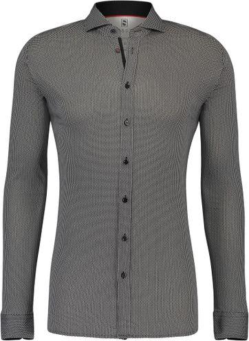 Desoto Overhemd Strijkvrij Stippen Zwart