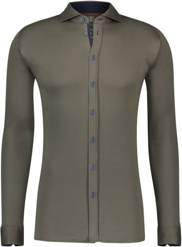 Desoto Overhemd Strijkvrij Uni Groen