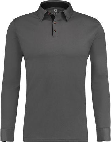 Desoto Polo Longsleeve Dark Grey
