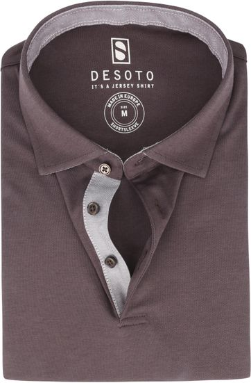 Desoto Polo Shirt Hai Brown