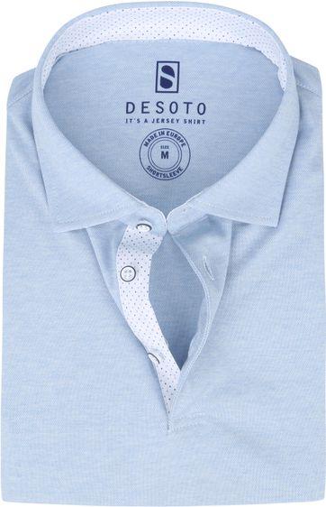Desoto Polo Shirt Hai Hellblau