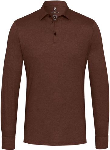 Desoto Polo Shirt New Hai Non-Iron Brown
