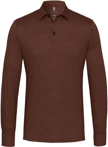 Desoto Poloshirt New Hai Non-Iron Braun