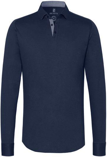 Desoto Poloshirt New Hai Non-Iron Dunkelblau