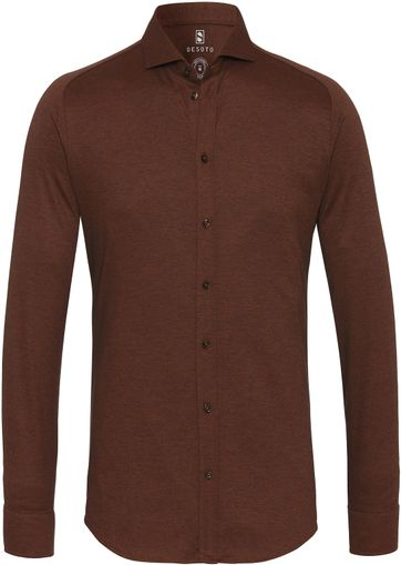 Desoto Shirt Non Iron Brown 851