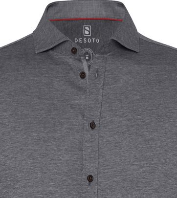 Desoto Shirt Non Iron Dark Grey 711