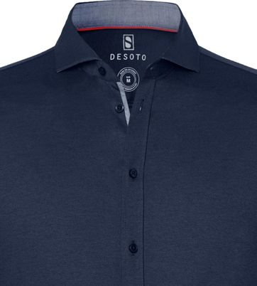 Desoto Shirt Non Iron Navy 512