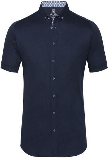 Desoto Shirt Short Sleeve Dark Blue 512