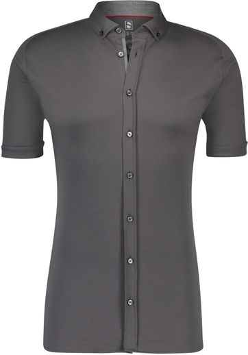 Desoto Shirt Short Sleeve Dark Grey 083