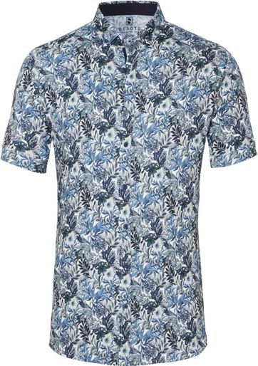 Desoto Shirt Short Sleeve Flowers 617