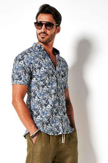 Desoto Shirt Short Sleeve Flowers 617