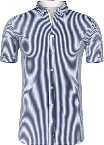 Desoto Shirt Short Sleeve Striped Navy