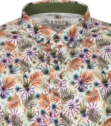 Desoto SS Shirt Modern Leaves Multicolour