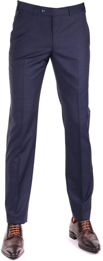 Digel Per Pants Navy Checkered