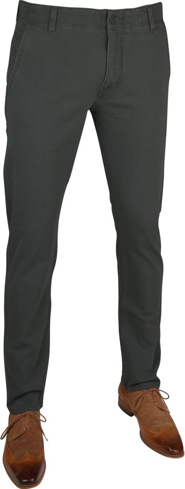 Dockers Alpha Skinny Chino 360 Flex Antraciet