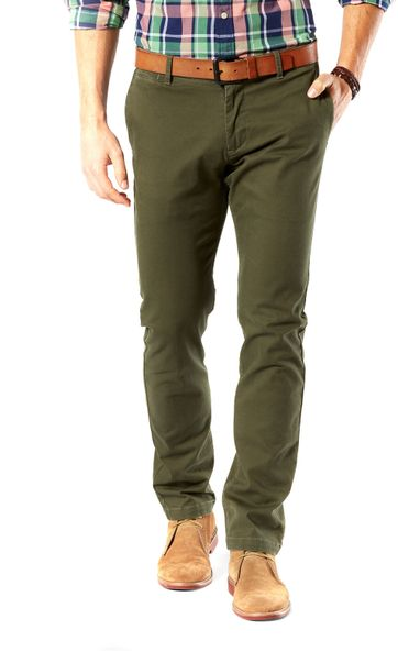 Dockers Pacific Washed Hose Slim Tapered Olivgrün