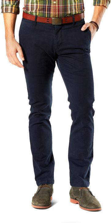 Dockers Pacific Washed Slim Tapered Broek Donkerblauw