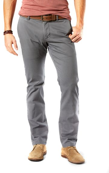 Dockers Pacific Washed Slim Tapered Broek Grijs