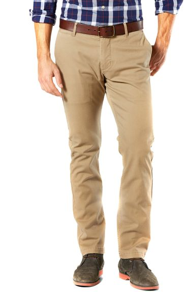 Dockers Pacific Washed Slim Tapered Broek Khaki