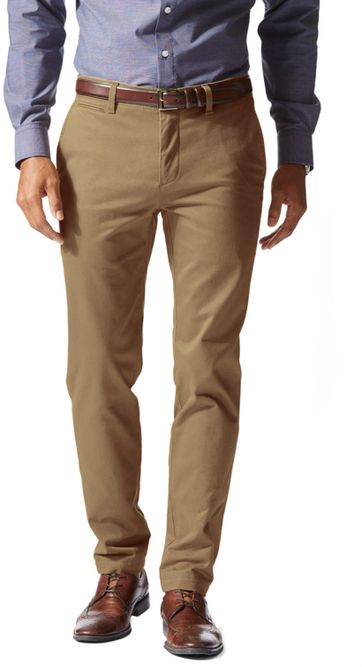 Dockers Trousers D1 Extra Slim Stretch Khaki