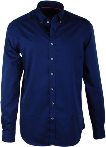 Donkerblauw Casual Overhemd Suitable