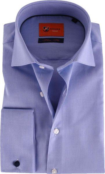 Doppel Cuff Hemd Blau 52-21
