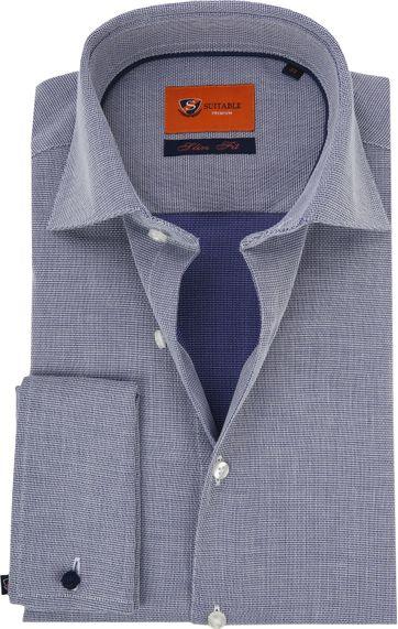 Double Cuff Shirt Blue Checkered 52-22