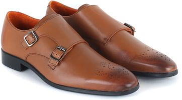 Double Monk Strap Cognac