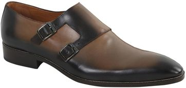 Double Monk Strap Schoen Taupe