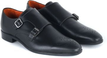 Double Monk Strap Zwart