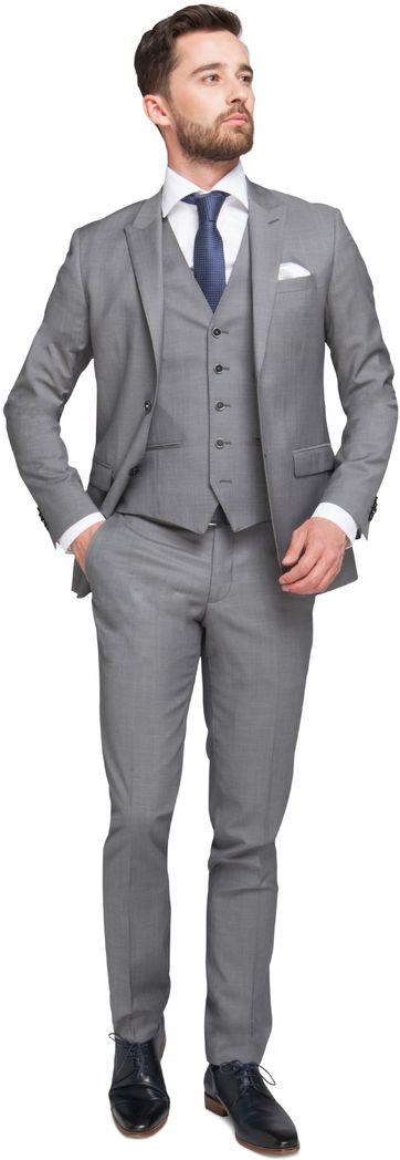Dreiteiliger Anzug Grau