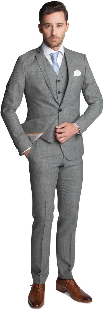 Dreiteiliger Anzug Grau Schurmann