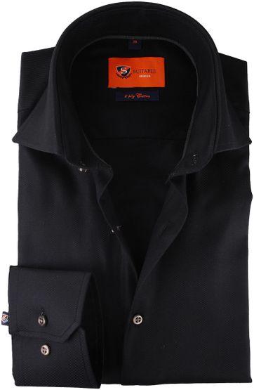 Dress Shirt Slim Fit Black Twill