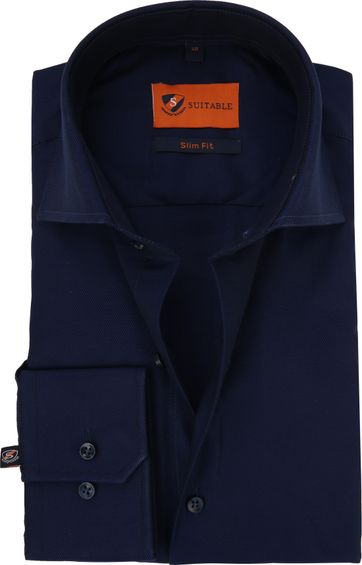 Dress Shirt Slim Fit Navy Night Twill