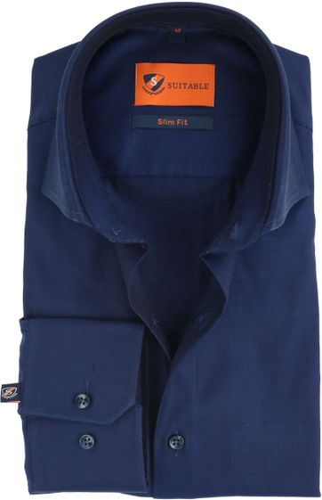 Dress Slim Fit Navy Night Twill