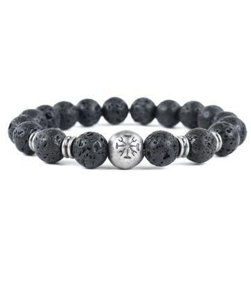 Dstrezzed Bracelet Lava Stone Black