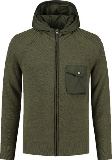 Dstrezzed Cardigan Hooded Dark Green
