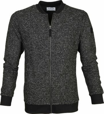 Dstrezzed Cardigan Melange Fleece Black