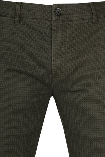 Dstrezzed Chino Graphic Donkergroen
