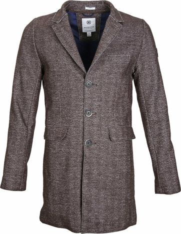 Dstrezzed Coat Boucle Brown Melange