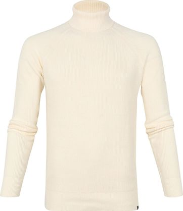 Dstrezzed Cotton Rib Turtleneck Beige